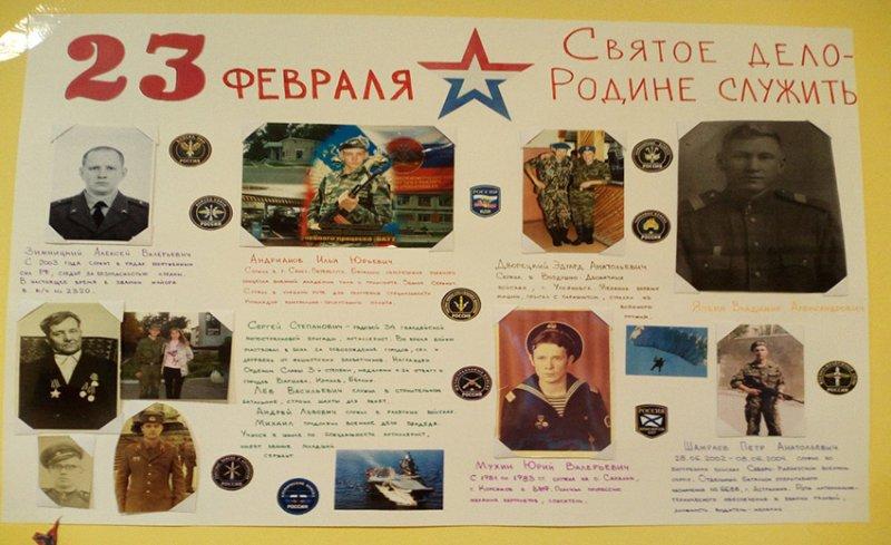 Подбор фотоматериалов на тему: «Наши доблестные защитники Отечества»